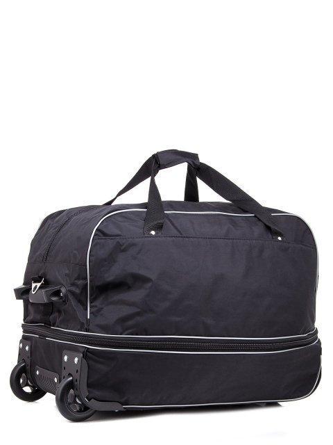 Чёрный чемодан Lbags (Эльбэгс) - артикул: К0000013257 - ракурс 1