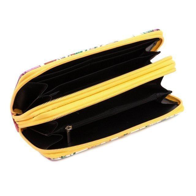 Жёлтое портмоне David Jones (Дэвид Джонс) - артикул: 0К-00002361 - ракурс 2