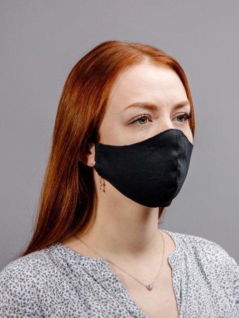 Чёрная маска S.Lavia (Славия) - артикул: М-002-01  - ракурс 2