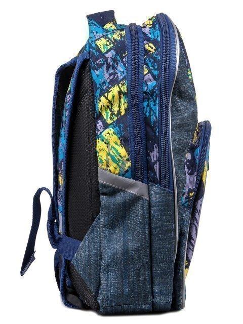 Синий рюкзак Lbags (Эльбэгс) - артикул: 0К-00004854 - ракурс 2