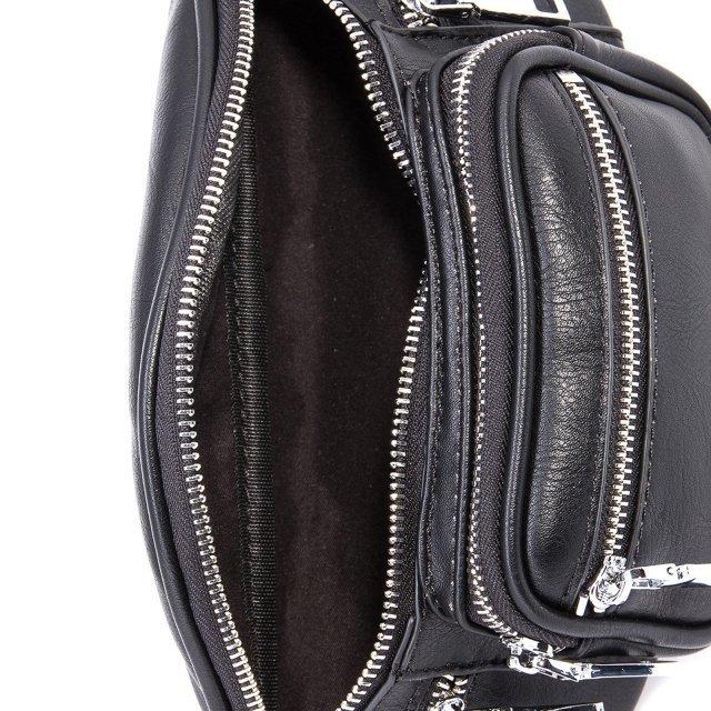 Чёрная сумка на пояс Domenica (Domenica) - артикул: 0К-00002086 - ракурс 4
