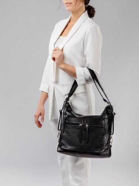 Чёрная сумка мешок S.Lavia (Славия) - артикул: 962 601 01 - ракурс 6