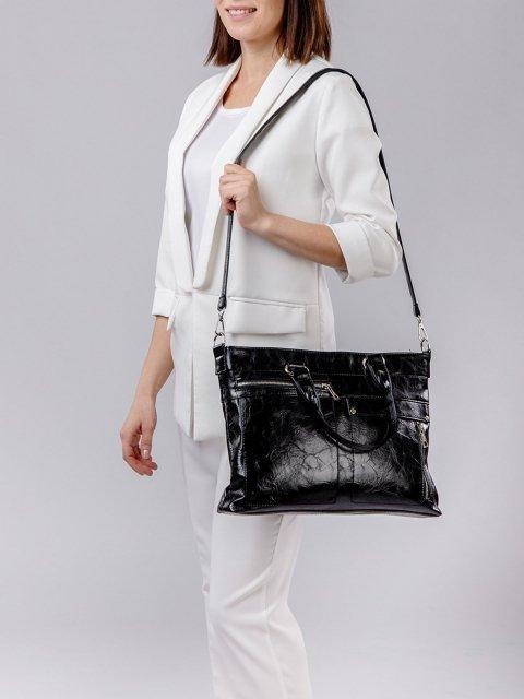 Чёрная сумка классическая S.Lavia (Славия) - артикул: 355 048 01 - ракурс 6