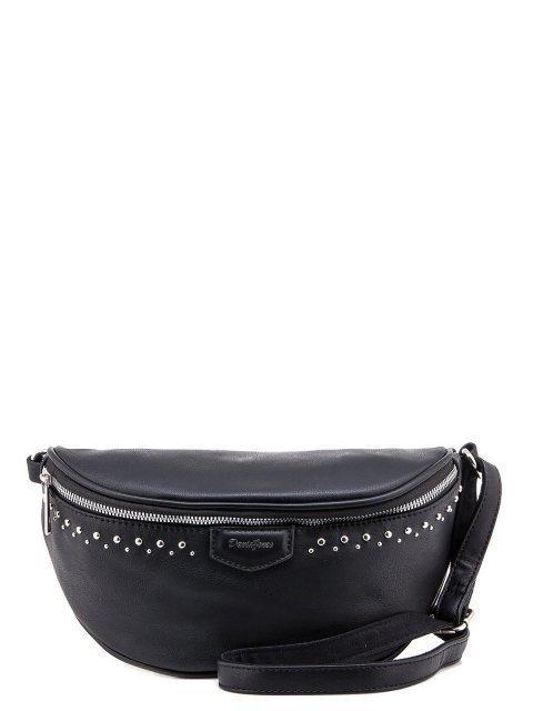 Чёрная сумка на пояс David Jones - 900.00 руб