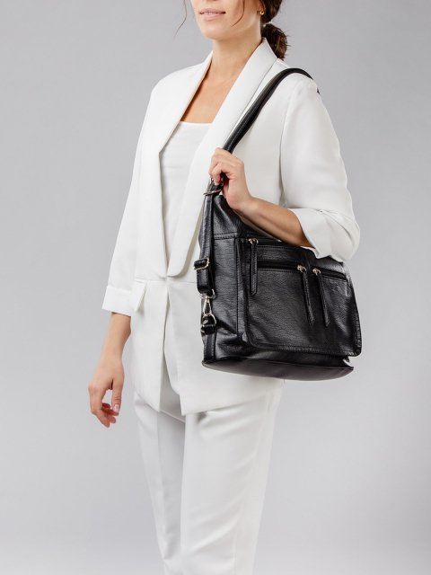 Чёрная сумка мешок S.Lavia (Славия) - артикул: 962 601 01 - ракурс 7