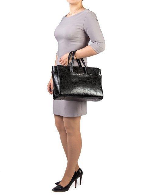 Чёрная сумка классическая S.Lavia (Славия) - артикул: 716 048 01 - ракурс 1