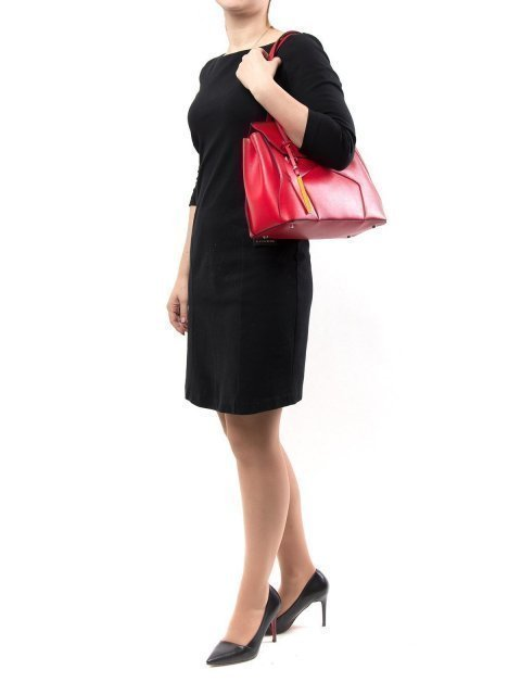Красная сумка классическая Cromia (Кромиа) - артикул: К0000022860 - ракурс 1