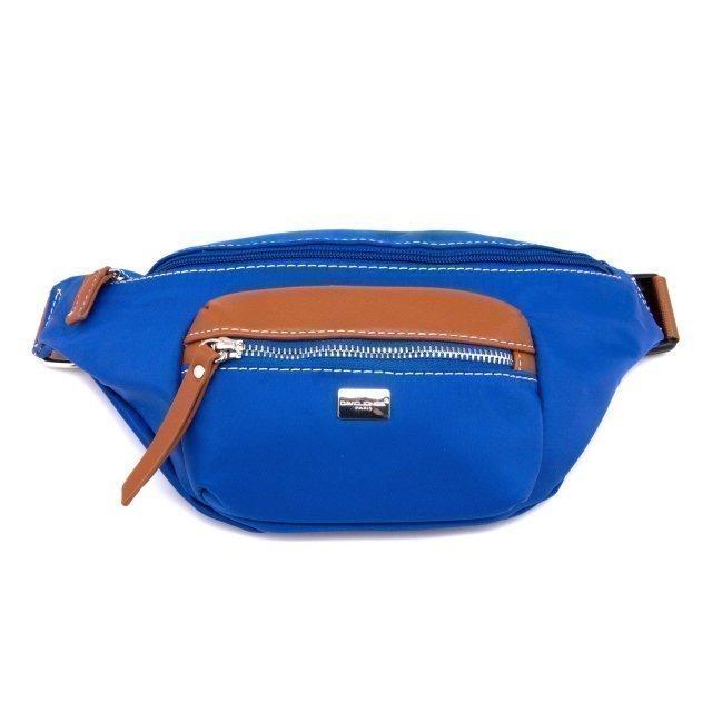 Синяя сумка на пояс David Jones - 600.00 руб
