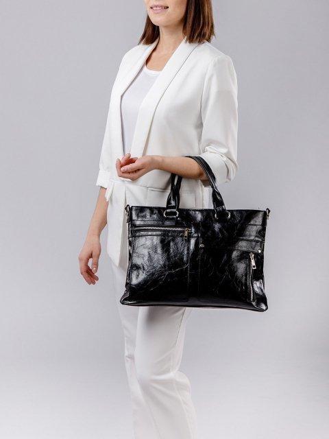 Чёрная сумка классическая S.Lavia (Славия) - артикул: 355 048 01 - ракурс 5