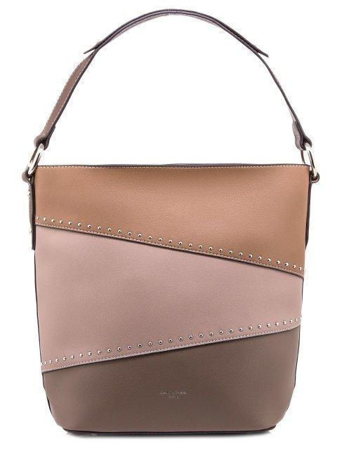 Коричневая сумка мешок David Jones - 880.00 руб
