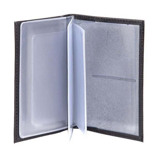 Чёрная обложка для документов S.Lavia (Славия) - артикул: К0000016362 - ракурс 2