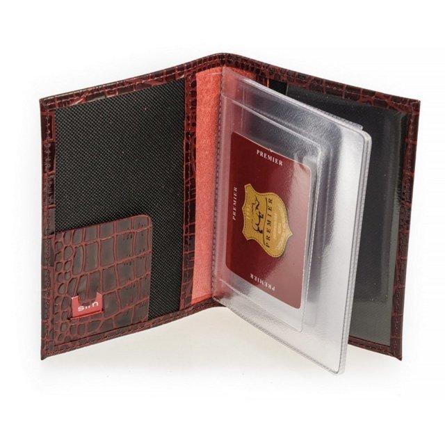 Бордовая обложка для документов S.Lavia (Славия) - артикул: К0000016122 - ракурс 1