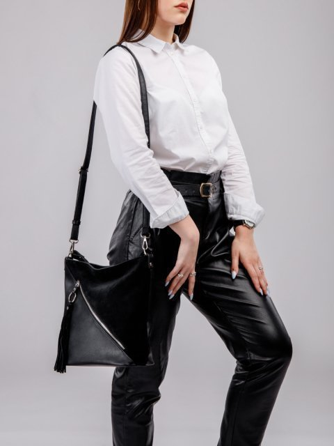 Чёрная сумка мешок S.Lavia - 2519.00 руб