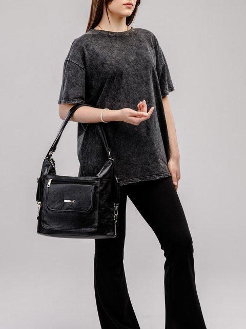 Чёрная сумка мешок S.Lavia (Славия) - артикул: 980 601 01 - ракурс 6
