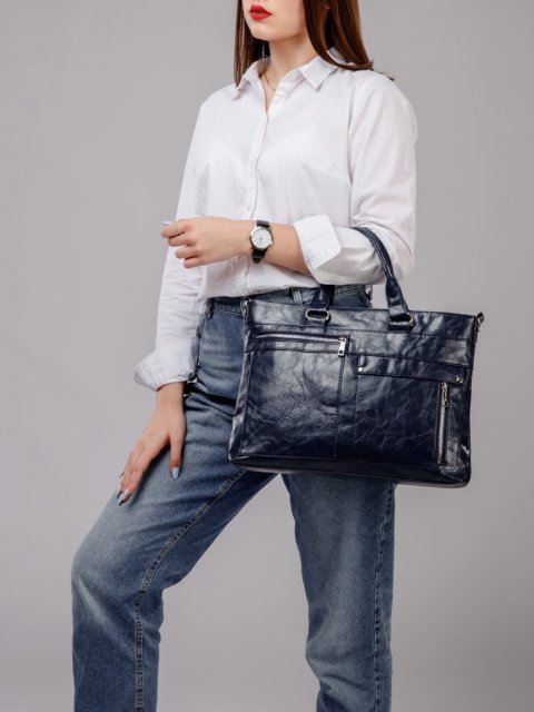 Синяя сумка классическая S.Lavia (Славия) - артикул: 355 048 70 - ракурс 5