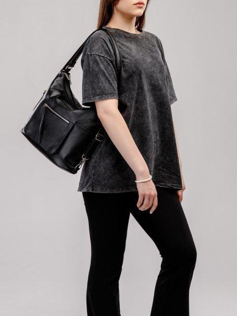 Чёрная сумка мешок S.Lavia (Славия) - артикул: 657 601 01 - ракурс 7
