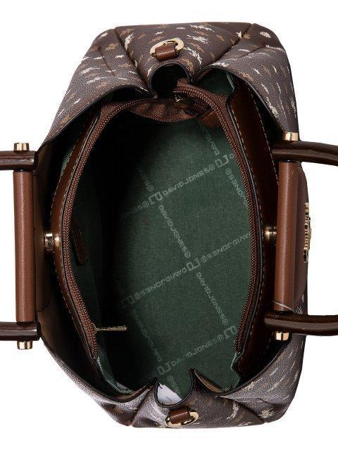 Коричневая сумка классическая David Jones (Дэвид Джонс) - артикул: 0К-00025988 - ракурс 4