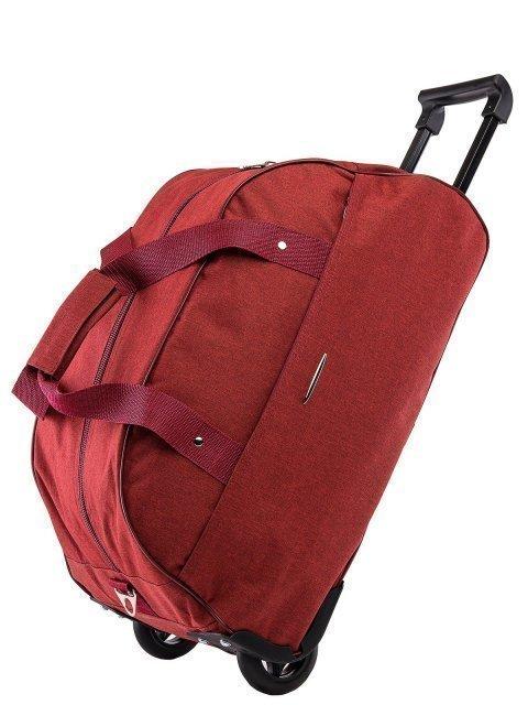 Бордовый чемодан Lbags (Эльбэгс) - артикул: К0000020770 - ракурс 4