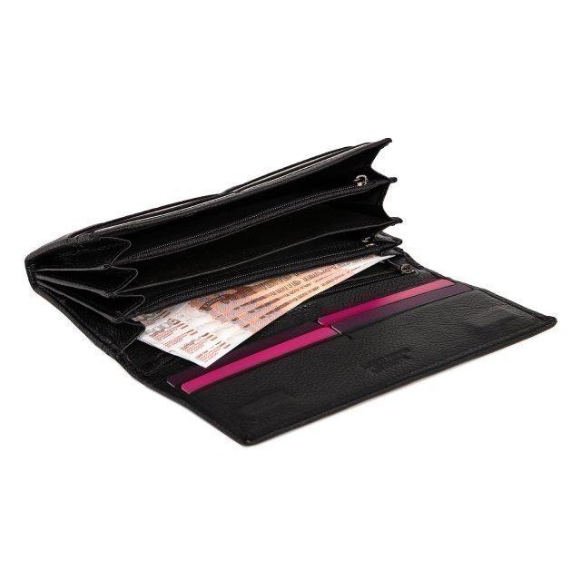 Чёрное портмоне S.Style (S.Style) - артикул: 0К-00019968 - ракурс 3