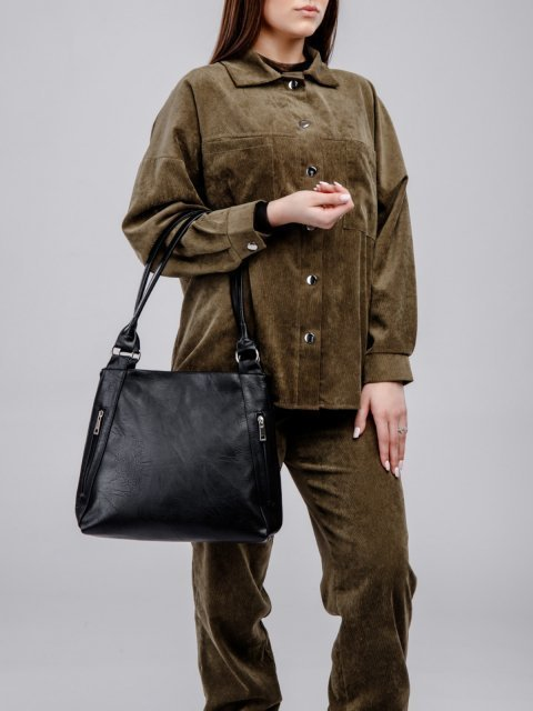 Чёрная сумка классическая S.Lavia (Славия) - артикул: 047 512 01 - ракурс 5
