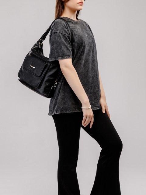 Чёрная сумка мешок S.Lavia (Славия) - артикул: 980 601 01 - ракурс 7