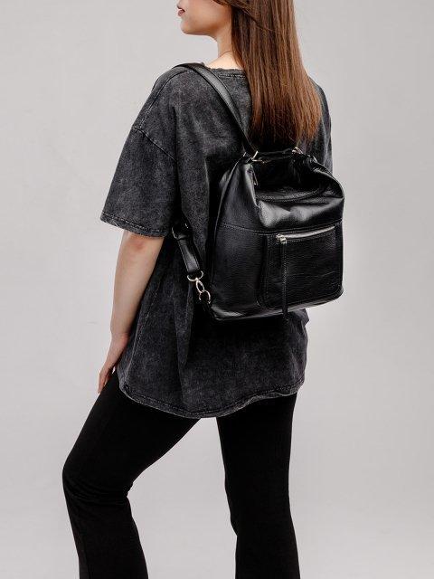 Чёрная сумка мешок S.Lavia (Славия) - артикул: 657 601 01 - ракурс 8