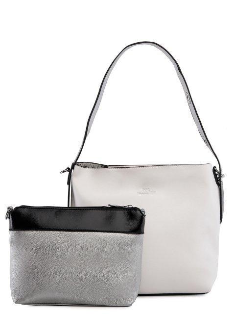 Белая сумка мешок Polina (Полина) - артикул: 0К-00026720 - ракурс 4