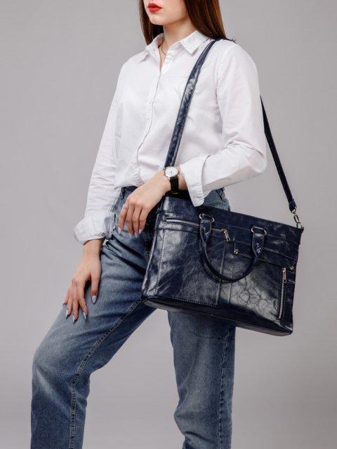 Синяя сумка классическая S.Lavia (Славия) - артикул: 355 048 70 - ракурс 6