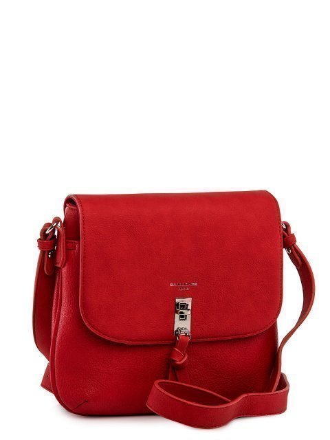 Красная сумка планшет David Jones (Дэвид Джонс) - артикул: 0К-00026050 - ракурс 1