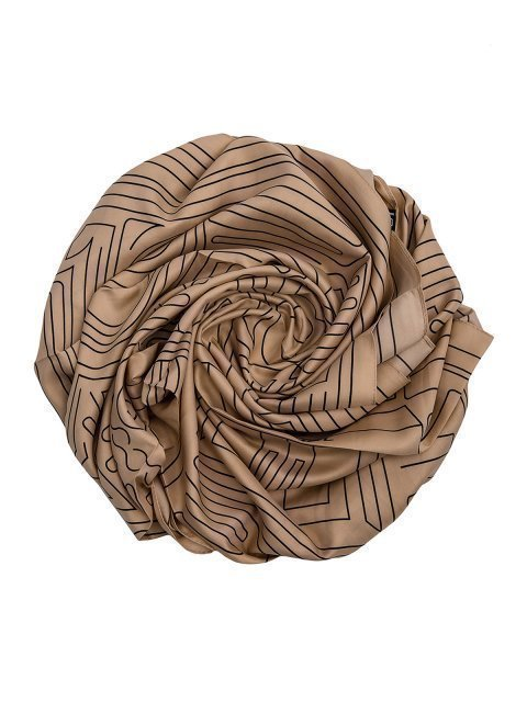 Бежевый платок Палантин - 550.00 руб