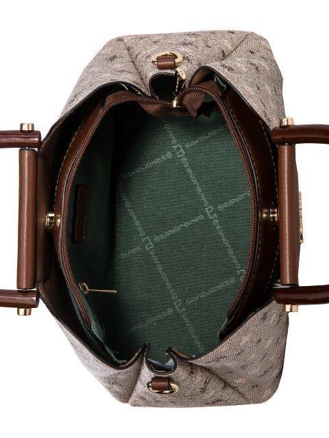 Бежевая сумка классическая David Jones (Дэвид Джонс) - артикул: 0К-00025990 - ракурс 4