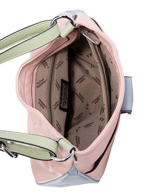 Розовая сумка мешок Fabbiano (Фаббиано) - артикул: 0К-00025608 - ракурс 4