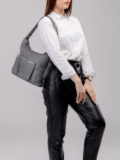 Голубая сумка мешок S.Lavia (Славия) - артикул: 657 601 34 - ракурс 7