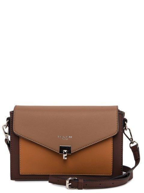 Коричневая сумка планшет David Jones - 3199.00 руб