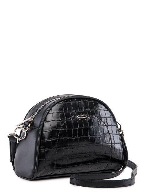 Чёрная сумка планшет David Jones (Дэвид Джонс) - артикул: 0К-00026290 - ракурс 1