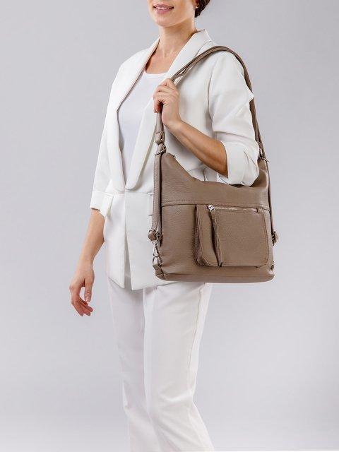 Коричневая сумка мешок S.Lavia (Славия) - артикул: 657 601 12 - ракурс 8