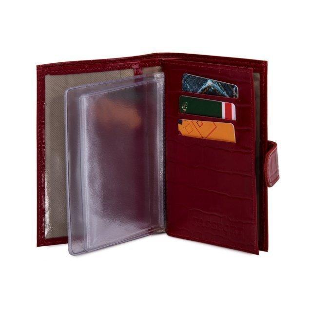 Красная обложка для документов S.Lavia (Славия) - артикул: К0000016348 - ракурс 3