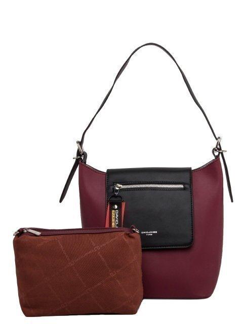 Бордовая сумка мешок David Jones - 2519.00 руб