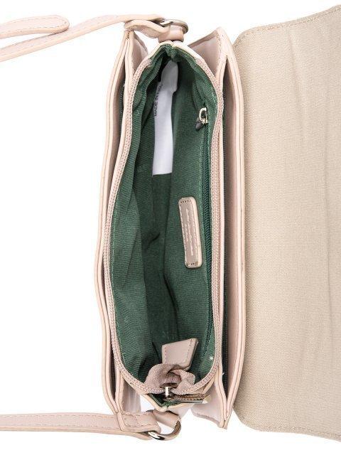 Бежевая сумка планшет David Jones (Дэвид Джонс) - артикул: 0К-00026148 - ракурс 4