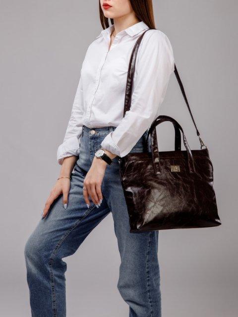 Коричневая сумка классическая S.Lavia (Славия) - артикул: 660 048 12 - ракурс 6