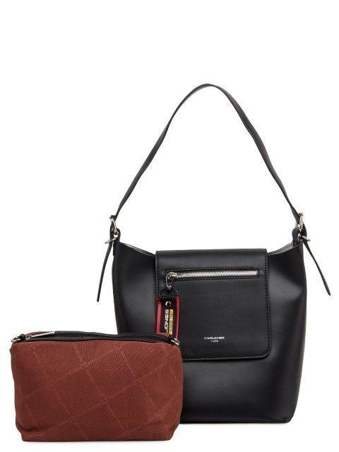 Чёрная сумка мешок David Jones - 2399.00 руб