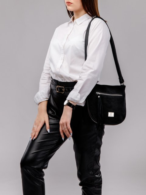 Чёрная сумка планшет S.Lavia (Славия) - артикул: 709 99 01 - ракурс 5