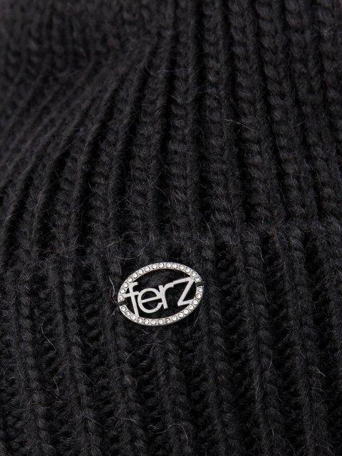 Чёрная шапка FERZ (FERZ) - артикул: 0К-00032212 - ракурс 2