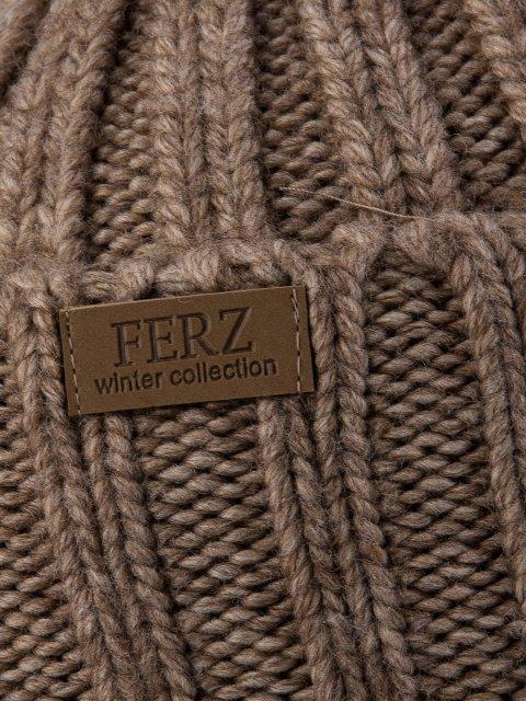 Бежевая шапка FERZ (FERZ) - артикул: 0К-00032209 - ракурс 2