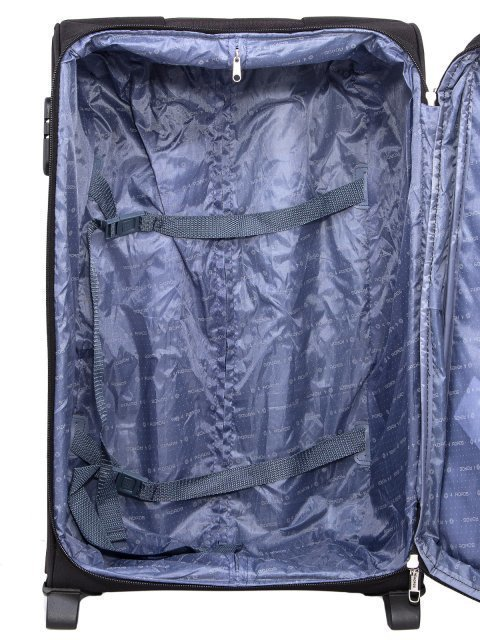 Чёрный чемодан 4 Roads (4 Roads) - артикул: 0К-00006589 - ракурс 4
