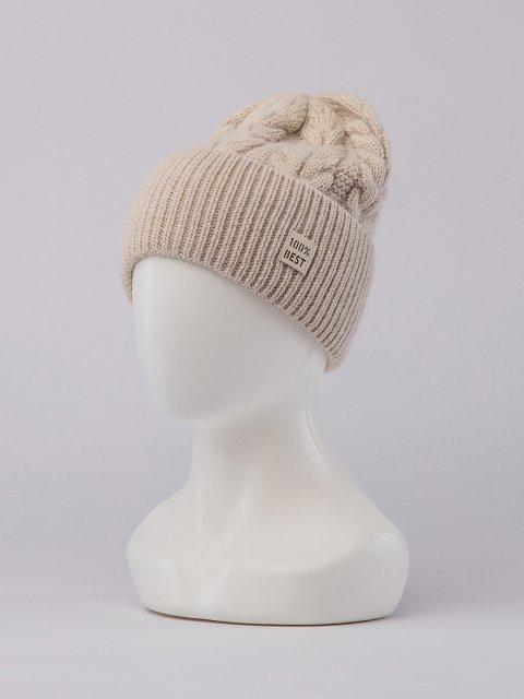 Светло-бежевая шапка FERZ (FERZ) - артикул: 0К-00032191 - ракурс 1