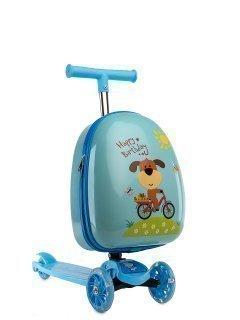 Голубой чемодан Angelo Bianco