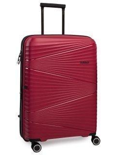 Бордовый чемодан REDMOND