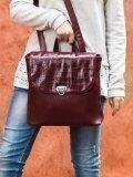Бордовый рюкзак S.Lavia. Вид 5 миниатюра.