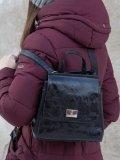Чёрный рюкзак S.Lavia. Вид 6 миниатюра.